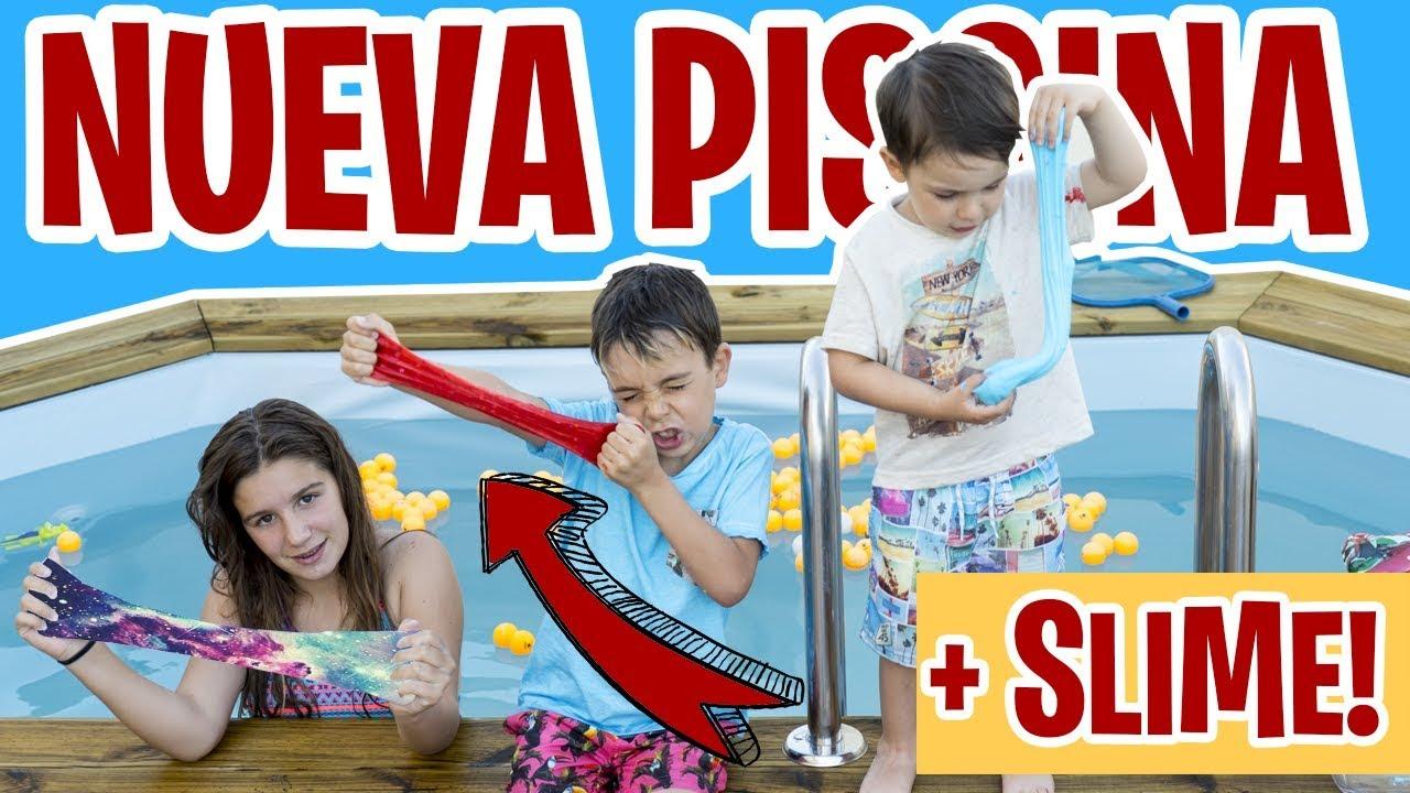 Slime En La Piscina Retos De Verano Familukis Youtube