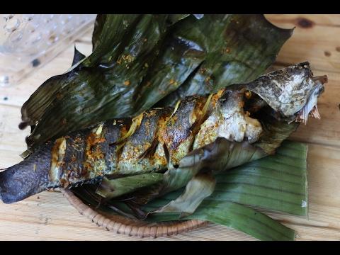 GRILLED FISH In Banana Leaf - Cá Nướng Lá Chuối
