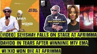 Seyishay Falls On Stage, Davido In Tears After Winning MTV EMA, Wizkid Won Big AT Afrima