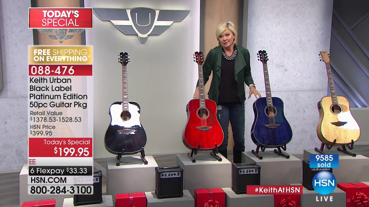Hsn Keith Urban Guitar Collection 11 26 2017 12 Pm Youtube