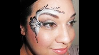 black and white lace face painting tutorial Thumbnail