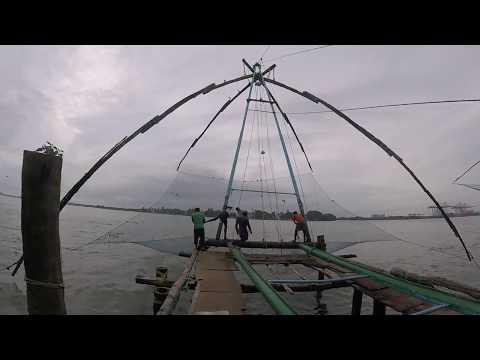Chinese Fishing Nets Lift Nets Kochi Cochin Kerala India