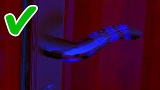 Если увидели отпечатки пальцев на дверной ручке не заходите внутрь