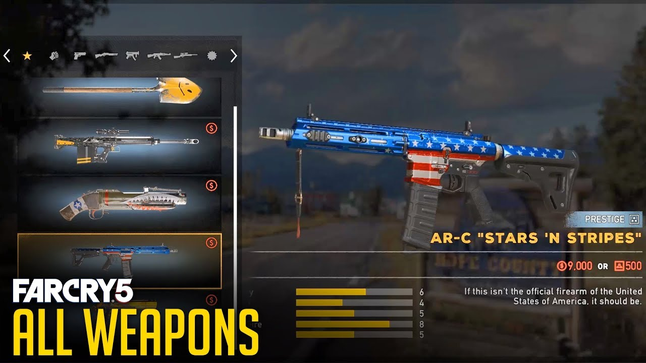 Far Cry 5 All Weapons And Customization Showcase Youtube