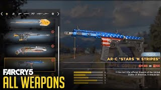 Far Cry 5 - ALL WEAPONS AND CUSTOMIZATION (Showcase)