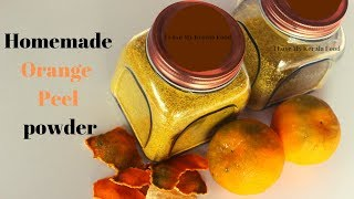 Orange Peel Powder At Home - Skin Brightening ഓറഞ്ച് പീൽ പൗഡർ വീട്ടിൽ തന്നെ