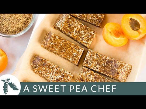 Apricot, Almond & Flaxseed Homemade Energy Bars | A Sweet Pea Chef