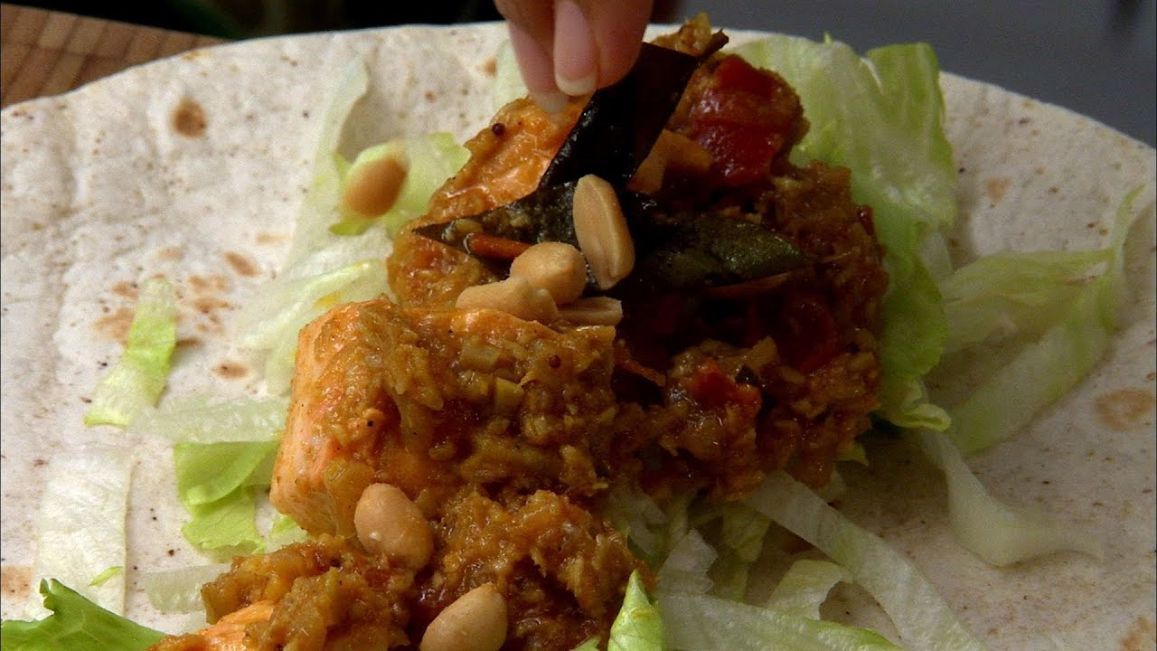 Keralan salmon fish wraps indian food made easy with anjum anand keralan salmon fish wraps indian food made easy with anjum anand bbc food youtube forumfinder Choice Image