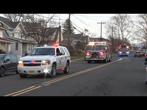 2017 Palisades Park,NJ Fire Department Santa Run  12/24/17