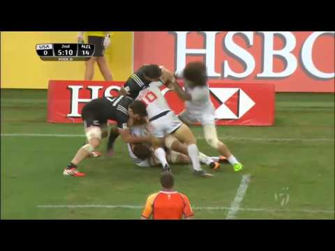 (HD) Singapore 7s | USA v New Zealand | Pool D | Full Match Highlights | Rugby Sevens