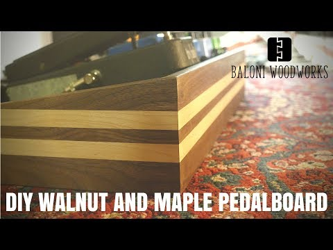 Walnut and Maple PEDALBOARD Build // How to