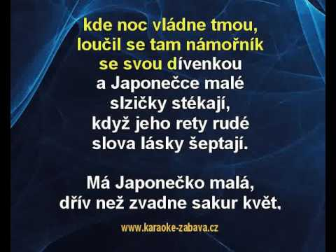 Japonečka - Vladimír Hrubec Karaoke tip