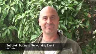 Babareki Business Networking event testimonial- Max Haim