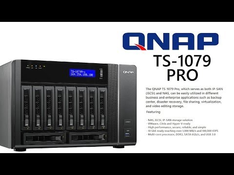 Case Overview - The Qnap TS-1079 PRO-E10G 10 bay NAS & iSCSI/IP-SAN Solution