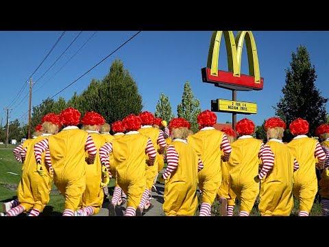 Raiding McDonalds With 100 Ronald McDonalds