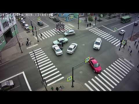 Мира - Декабристов 24.09.2018 ЧП Красноярск