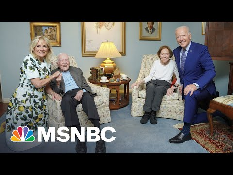 Why The Bidens Look Much Larger Than The Carters In This Photo | The 11th Hour | MSNBC