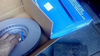 Замена передних тормозных дисков Форд Транзит 2.4 2008 год.  #тормозныедиски#замена#фордтранзит