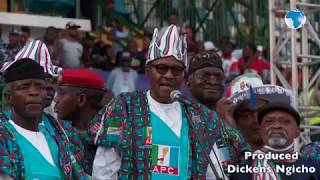 Nigeria's president holds rally ahead of election
