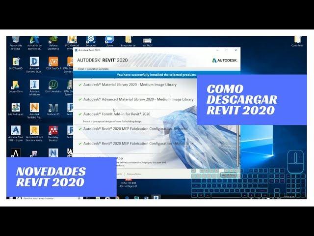 Instalación gratuita  y Novedades Revit 2020