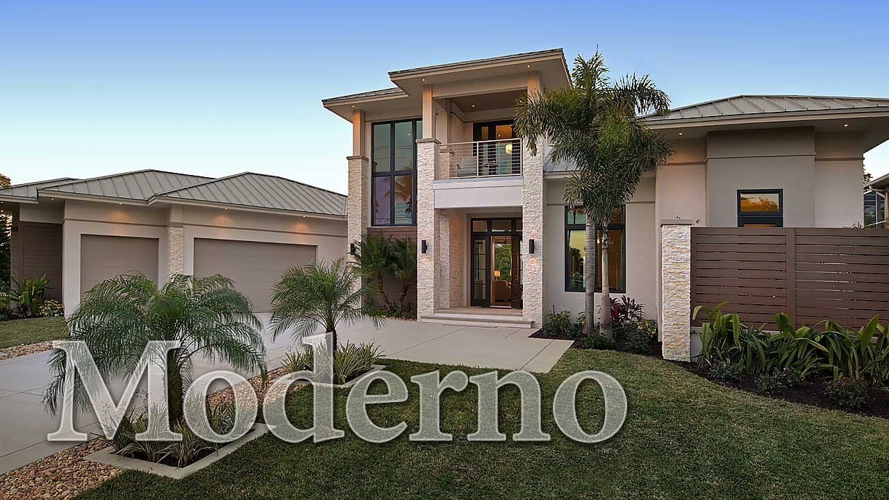 Moderno a contemporary home plan youtube