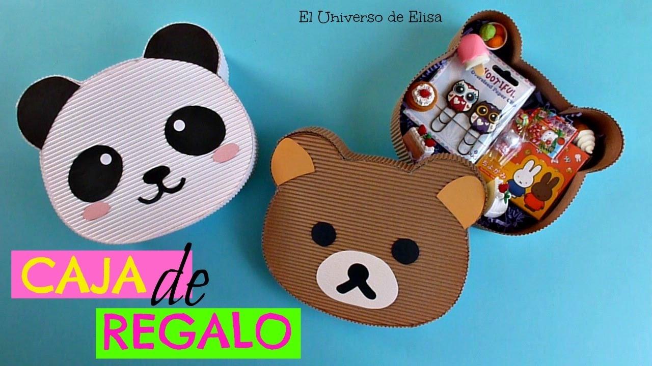 Kawaii Diy Caja De Regalo Osito Panda Osito Rilakkuma Kawaii Gift