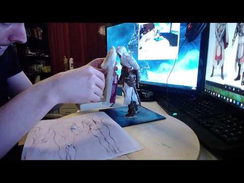 Ezio Auditore - Assassins Creed figure timelapse - part 1 - Base clay