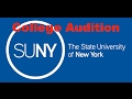 College Audition - SUNY Purchase