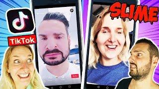 GUCK DIR NICHT DAS FALSCHE TIK TOK VIDEO AN SLIME CHALLENGE! Strafe oder Schleim für Kaan + Nina