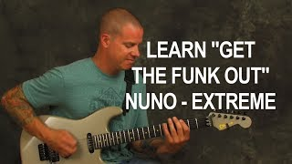 Guitar song lesson learn Get The Funk Out by Extreme NUNO rocking chords rhythms licks