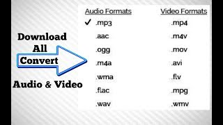 How to download all convert video (Audio Formats,mp3.aac.m4a.wma.[video Formats].mp4.avi.flv.wmv]