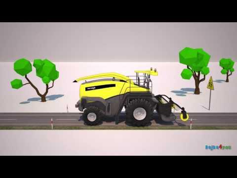 Forage harvester. Animation for kids. Sieczkarnia polowa.