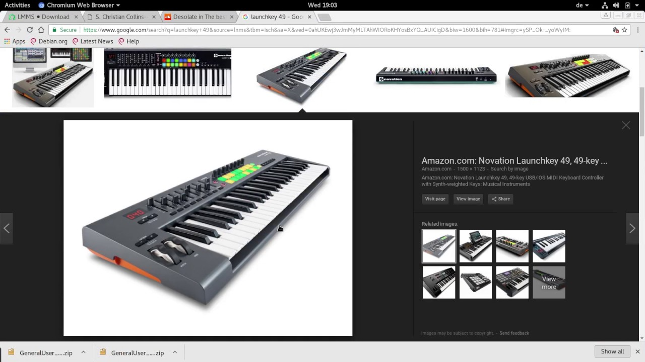 LMMS installation on Debian Stretch with midi controller and sound-font GM  Samples