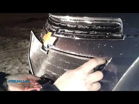 Защита радиатора CHEVROLET CRUZE 2013 (Черный) - strelka11.ru