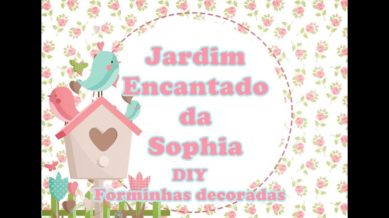 Adesivo De Parede Justin Bieber ~ Diy forminha para doce decorada Jardim Encantado da