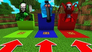DO NOT CHOOSE THE WRONG TRAPDOOR IN Minecraft PE (Dipsy, Noo Noo, & Po Slendytubbies)
