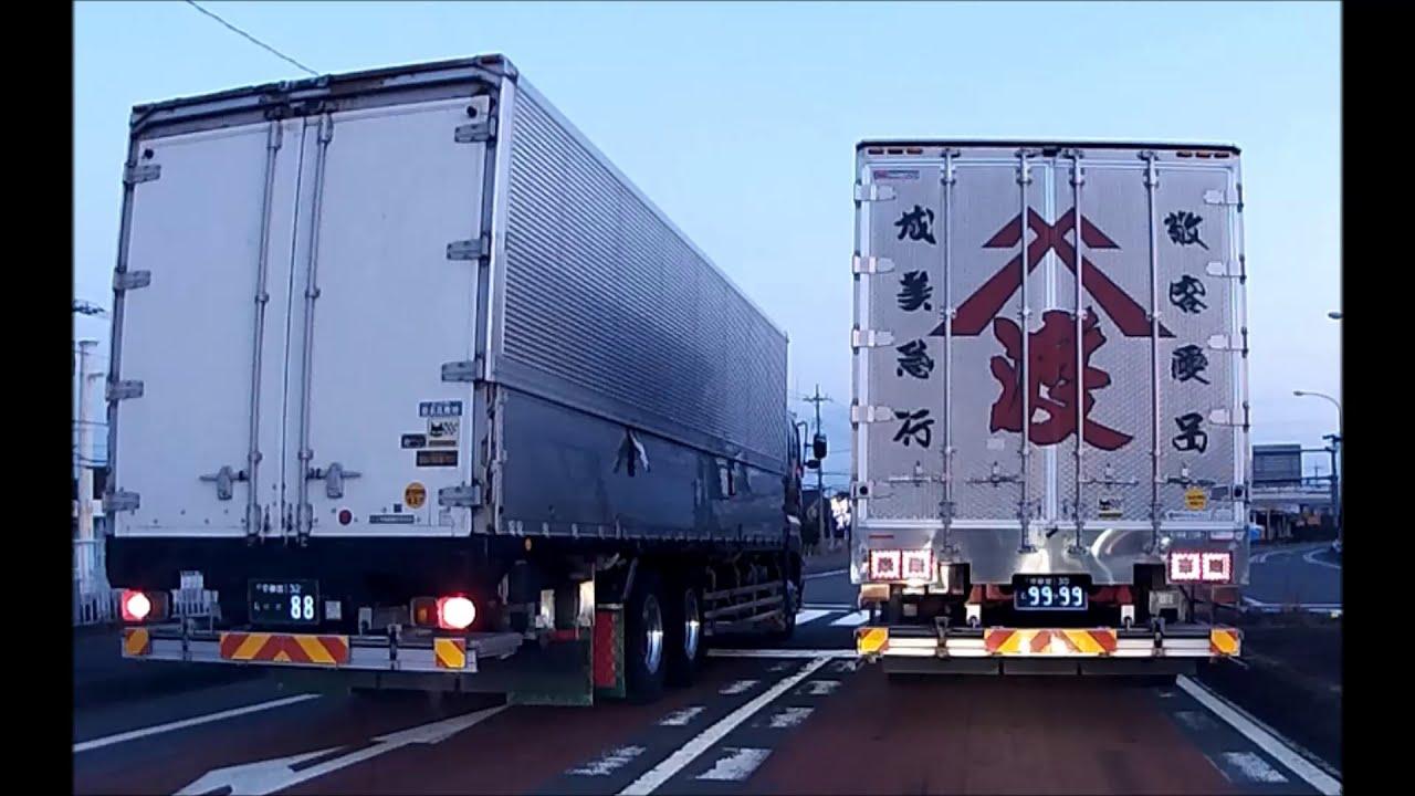 2021年 3月 7日 国道4号さくら市 大型トラック2台の連続信号無視 危険運転 ナンバー9999と88
