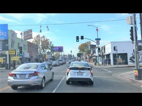 Driving Downtown 4K - LA Shopping Destination - Los Angeles USA