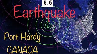\\WARNING// 6.6 Earthquake 224 km SW of Port Hardy, British Columbia/Tsunami ISSUED