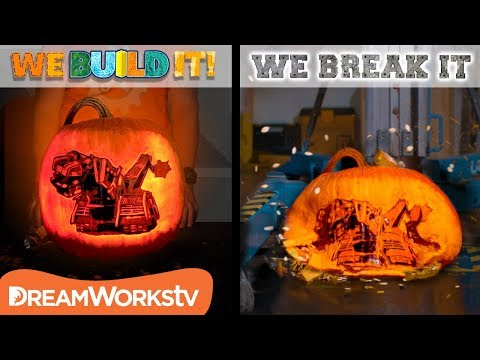 Pumpkin Carving Meets Drop of Doom | WE BUILD IT WE BREAK IT