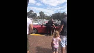 Security guard rescues baby locked in car in 42 degree heat