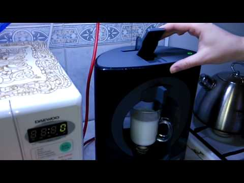 приготовление Latte в кофемашине Nescafe Dolce Gusto