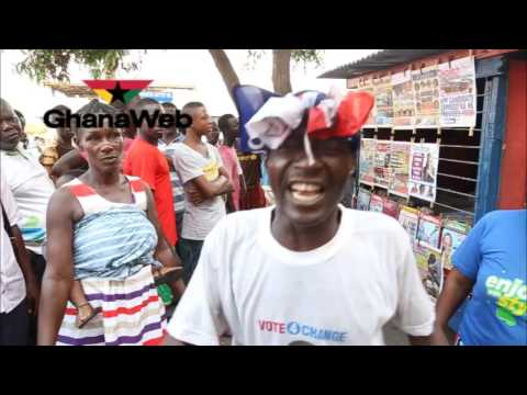 Old man sings victory song for Akufo-Addo