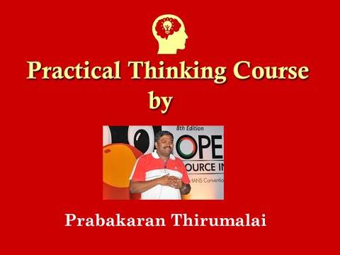 Practical Thinking Course by Prabakaran Thirumalai