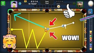 LEGENDARY INDIRECT TRIANGLE COMBINATION SHOT IN 8 BALL POOl (he didn't react much)
