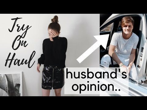 FALL TRY ON HAUL w/ Husband Commenting.. ♡ Brianna White