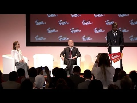launched of the International Protocol by W Hague, Angelina Jolie and K Haoussou @end_svc @haoussou