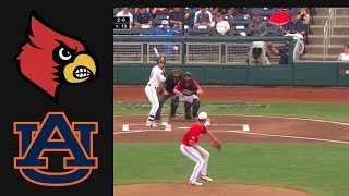 Louisville vs Auburn College World Series Elimination Game | College Baseball Highlights