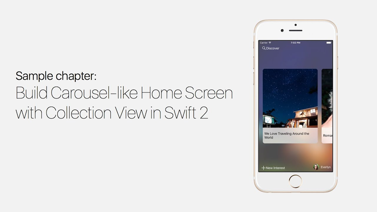UICollectionView with Swift: Build Carousel Like Home Screen - iOS ...