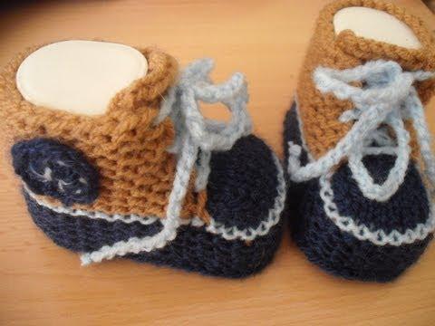 Turnschuhe Babys Gestrickt Babyschuhe Stricken